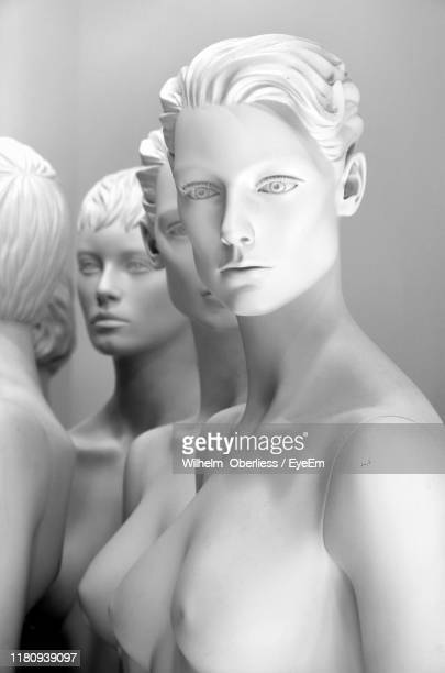 close-up of mannequins in store - マネキン人形 ストックフォトと画像