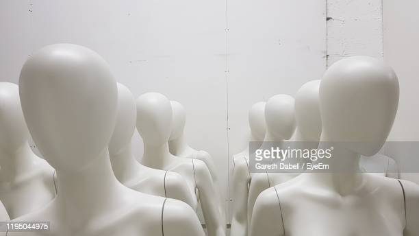 close-up of mannequins - mannequin stock pictures, royalty-free photos & images