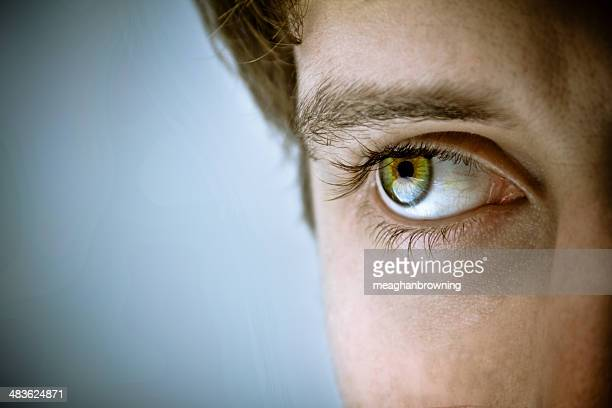 Close-up of man's eye