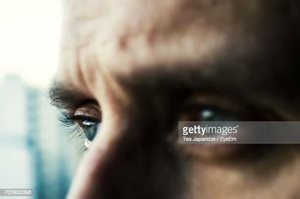 Close-Up Of Mans Eyes