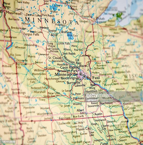 ミネソタのマップ
