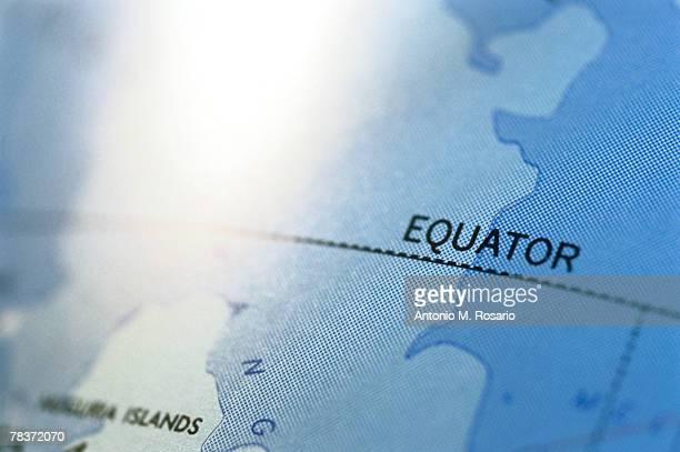 Close-up of map