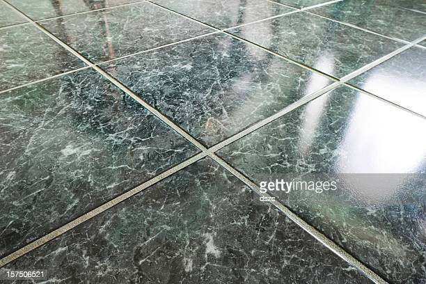 closeup of marble floor and tile patterns