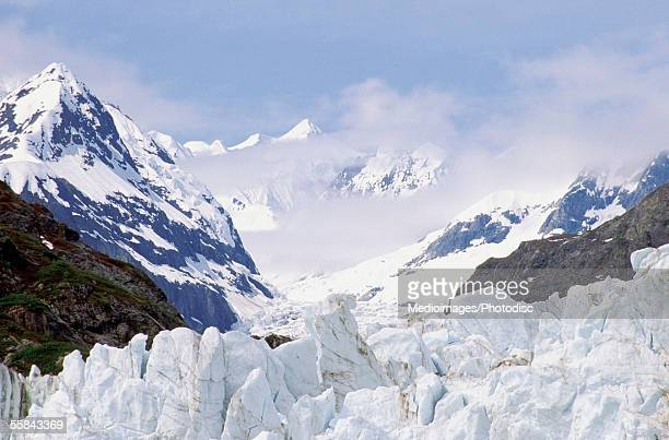 Close-up of Margerie Glacier, Glacier Bay National Park and Preserve, Alaska, USA