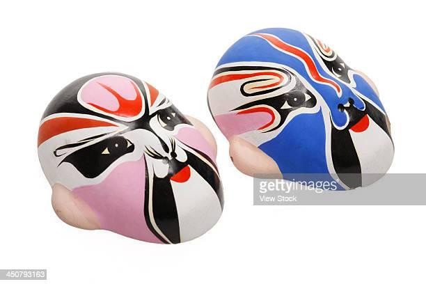 Close-up of masks