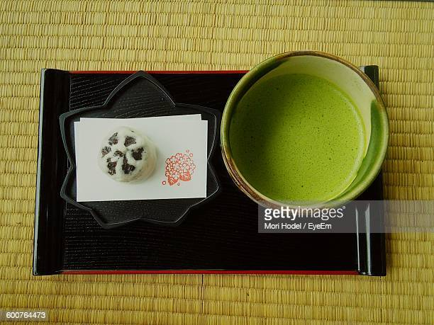 Close-Up Of Matcha Tea On Table