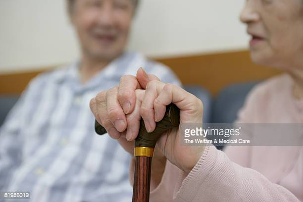 Close-up of mature couple chatting