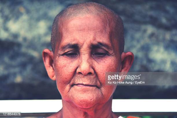 close-up of mature woman - ko ko htike aung stock pictures, royalty-free photos & images