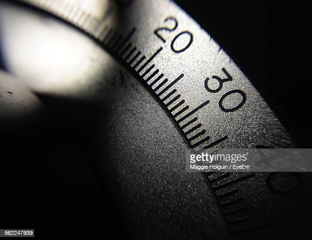 Close-Up Of Measuring Dial