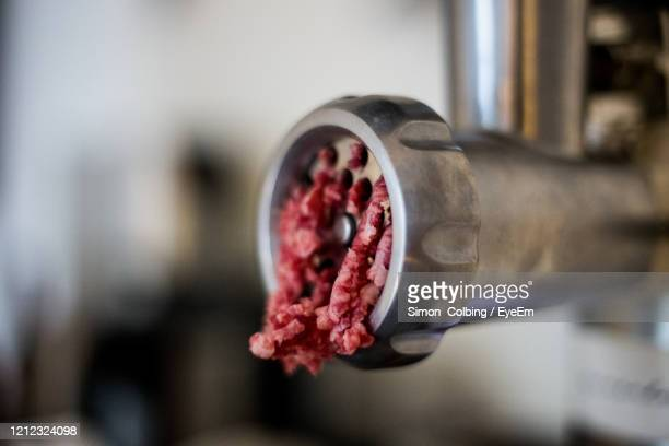 close-up of meat grinder - colbing stock pictures, royalty-free photos & images