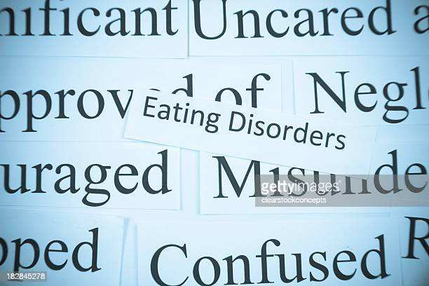 Close-up of mental health words