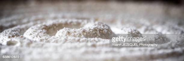 Close-up of meringue on lemon pie