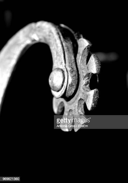 Close-Up Of Metal Against Black Background