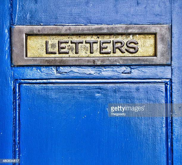 close-up of metal letterbox - domestic mailbox stock pictures, royalty-free photos & images