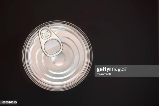 Close-Up Of Metallic Can