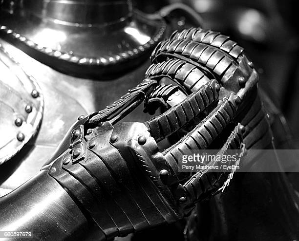 close-up of metallic suit - traditional armor stock pictures, royalty-free photos & images