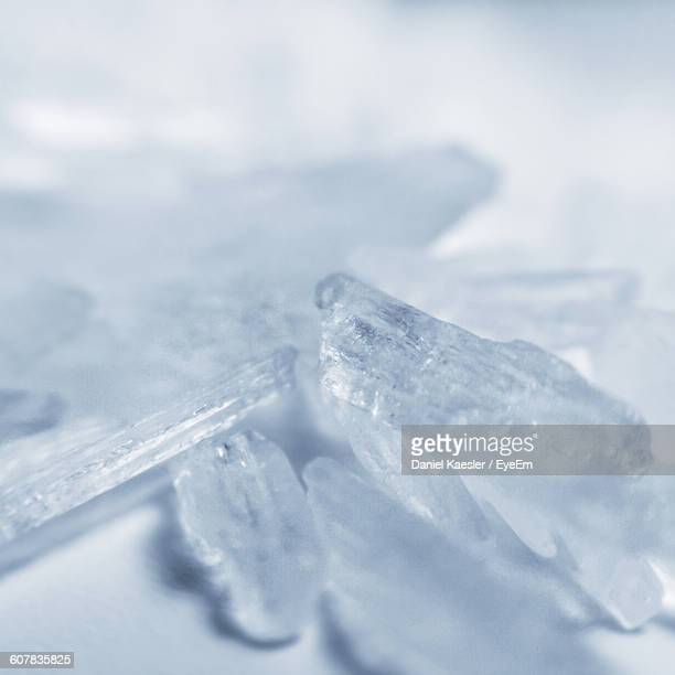 close-up of methamphetamine on table - methamphetamine stock photos and pictures