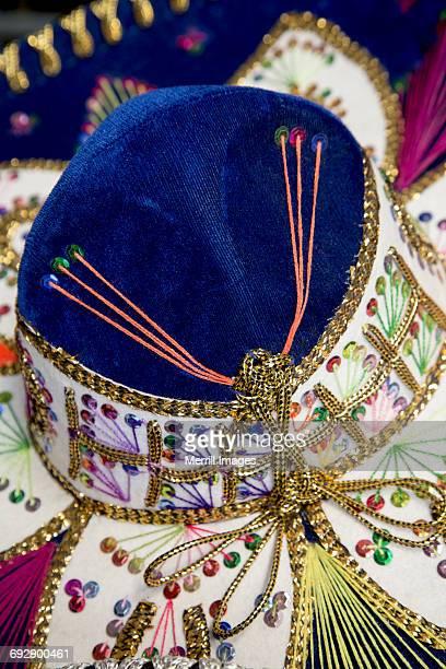 close-up of mexican sombrero hat - todos santos mexico fotografías e imágenes de stock