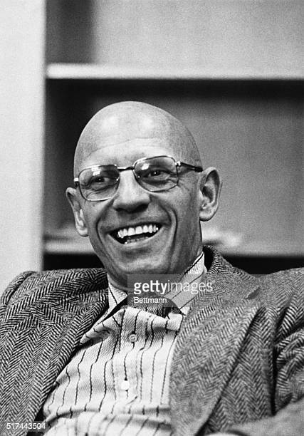 Closeup of Michel Foucault smiling French philopsopher and historian BPA2