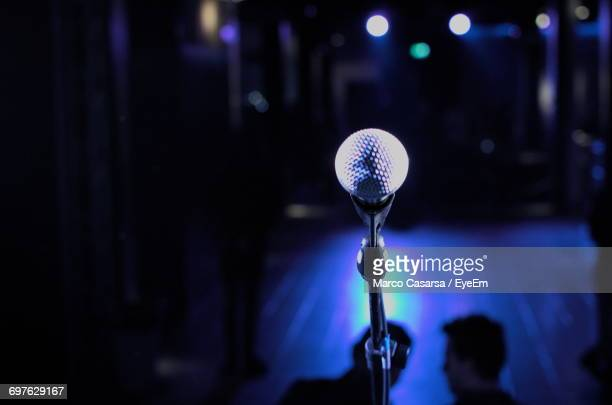 close-up of microphone - karaoke stock pictures, royalty-free photos & images