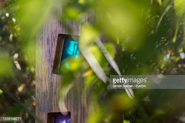close-up of mobile phone outdoors - bad homburg stock pictures, royalty-free photos & images
