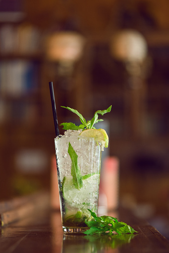 Close-Up Of Mojito Drinks - gettyimageskorea