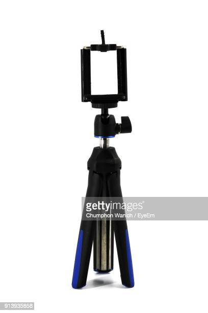 Close-Up Of Monopod Over White Background