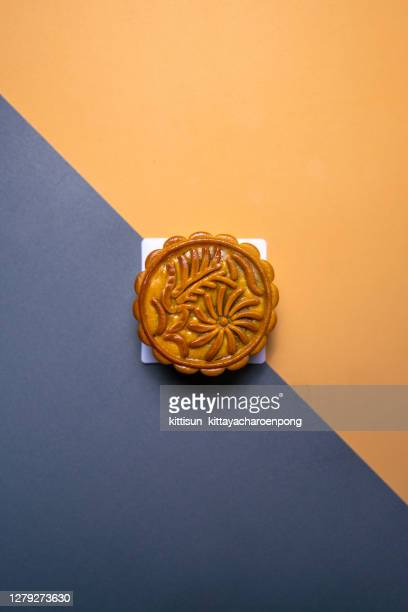 close-up of moon cakes - moon cake stock pictures, royalty-free photos & images