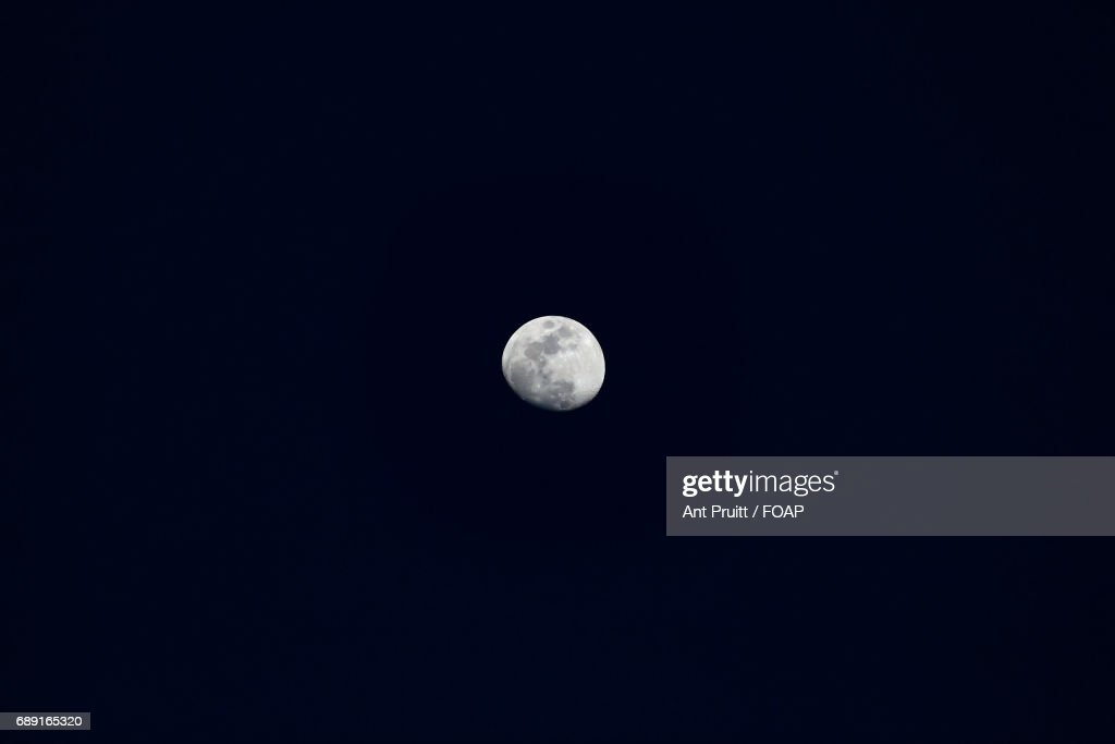 Close-up of moon in sky at night : Stock Photo