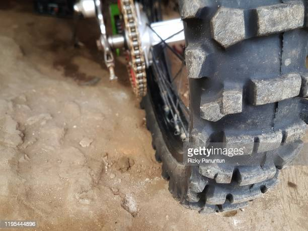 close-up of motocross tires - condition stock pictures, royalty-free photos & images