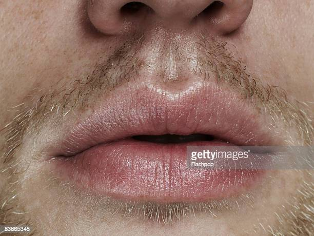 close-up of mouth - facial hair stock pictures, royalty-free photos & images