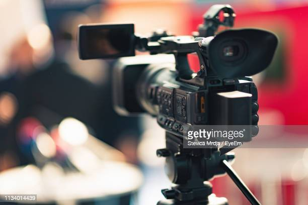 close-up of movie camera at studio - photography themes stock pictures, royalty-free photos & images