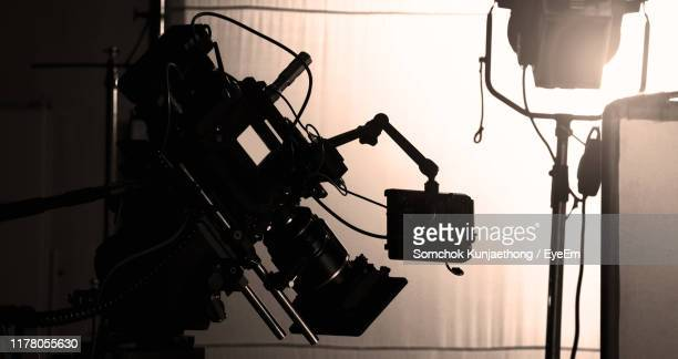 close-up of movie camera - behind the scenes stock pictures, royalty-free photos & images