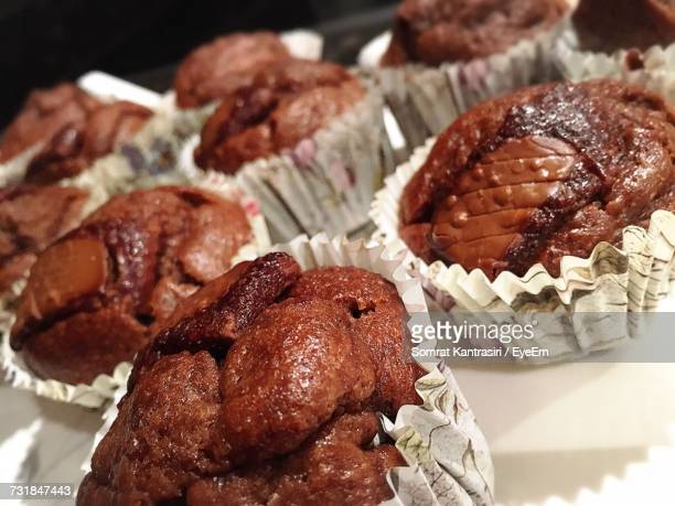 Close-Up Of Muffins In Plate