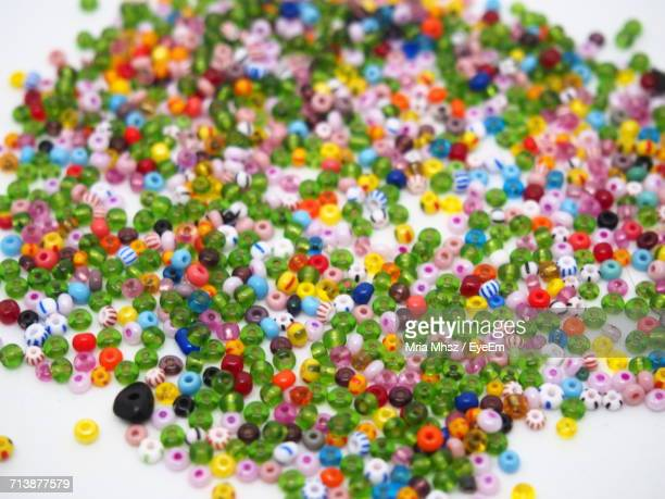 Close-Up Of Multi Colored Beads
