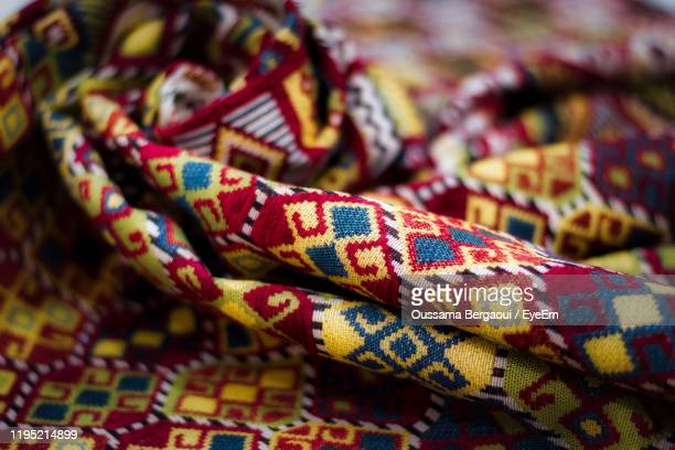 close-up of multi colored blanket - north africa stock pictures, royalty-free photos & images