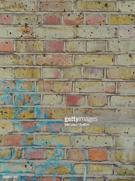 Close-Up Of Multi Colored Brick Wall
