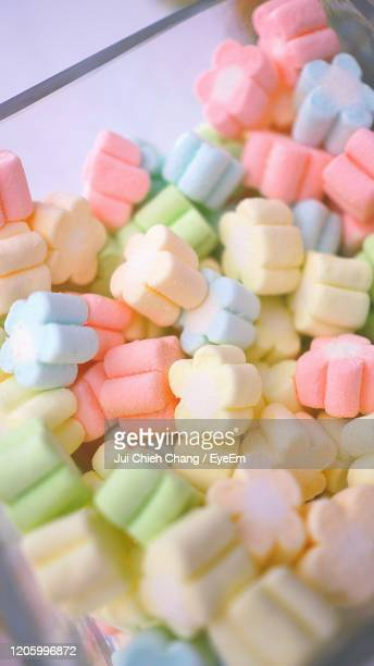 close-up of multi colored candies - sweet shop stock pictures, royalty-free photos & images