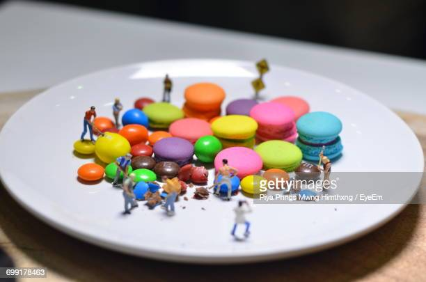 Close-Up Of Multi Colored Candies