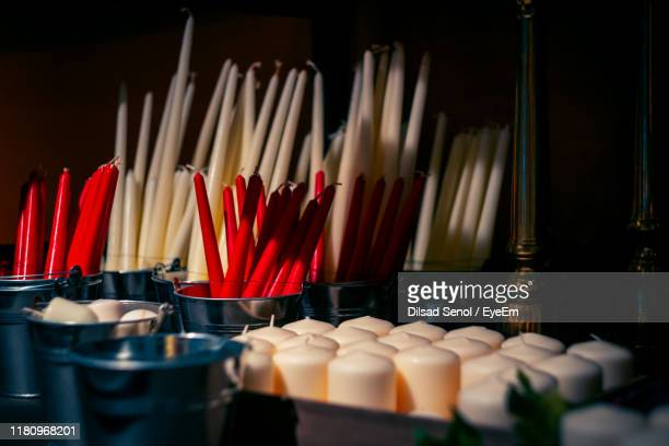 close-up of multi colored candles - collection stock pictures, royalty-free photos & images