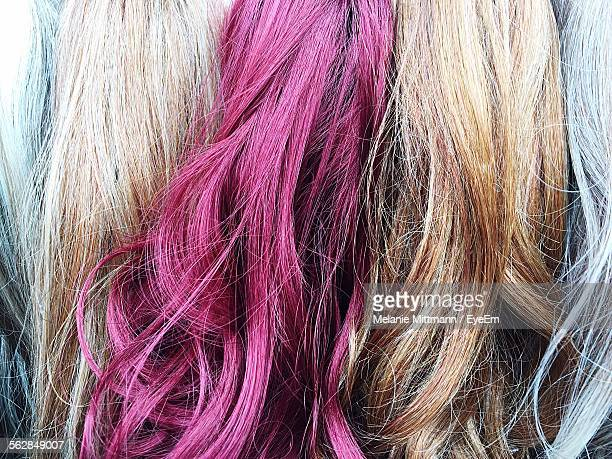 Close-Up Of Multi Colored Human Hair