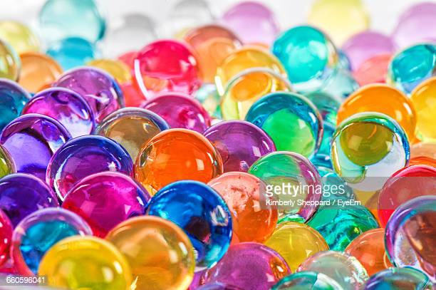 Close-Up Of Multi Colored Marble Balls
