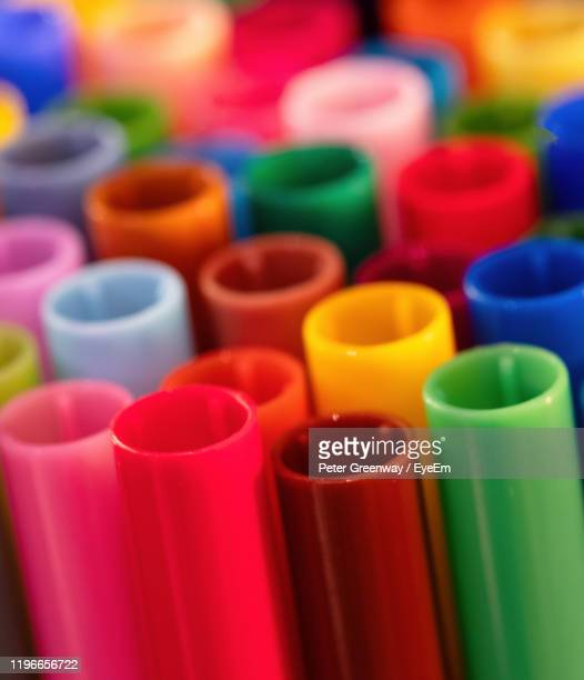 close-up of multi colored plastic - bicester village stock pictures, royalty-free photos & images