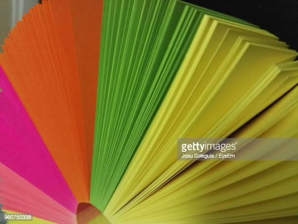 Close-Up Of Multi Colored Sticky Notes