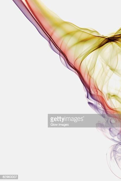 Close-up of multi-colored smoke