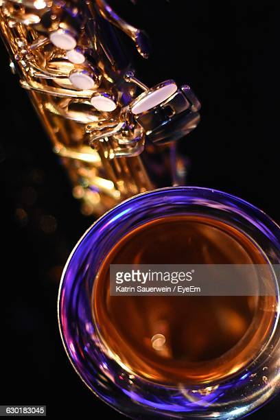 Close-Up Of Musical Instrument Over Black Background