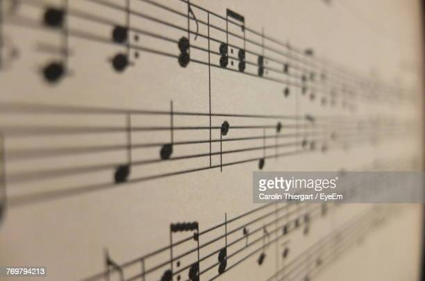 close-up of musical note - classical music stock pictures, royalty-free photos & images