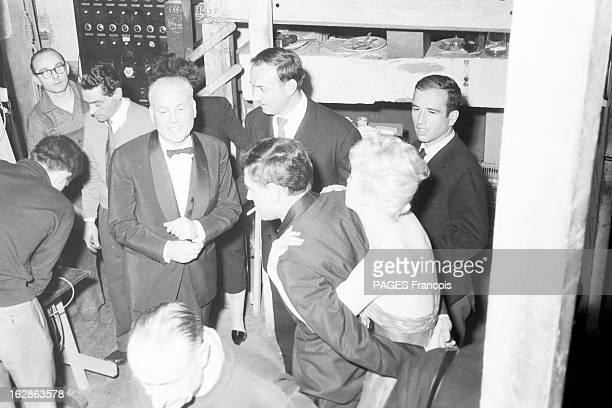Close-Up Of Mylene Demongeot. Avril 1958. Mylène DEMONGEOT joue dans 'Virage dangereux' de John Boynton PRIESTLEY, au Théâtre Edouard VII. L'actrice...