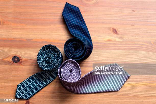 Close-Up Of Necktie On Table