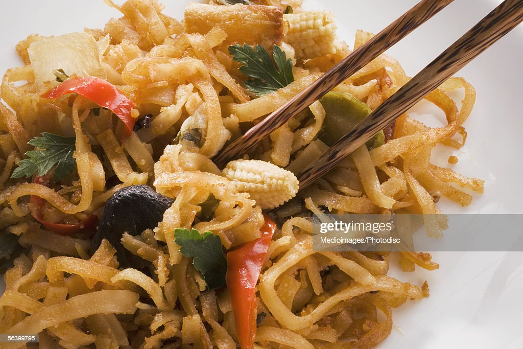 Close-up of noodles : Stock Photo
